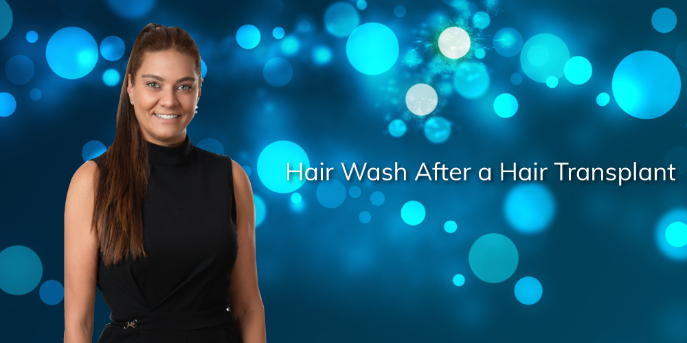 hair wash after a hair transplant